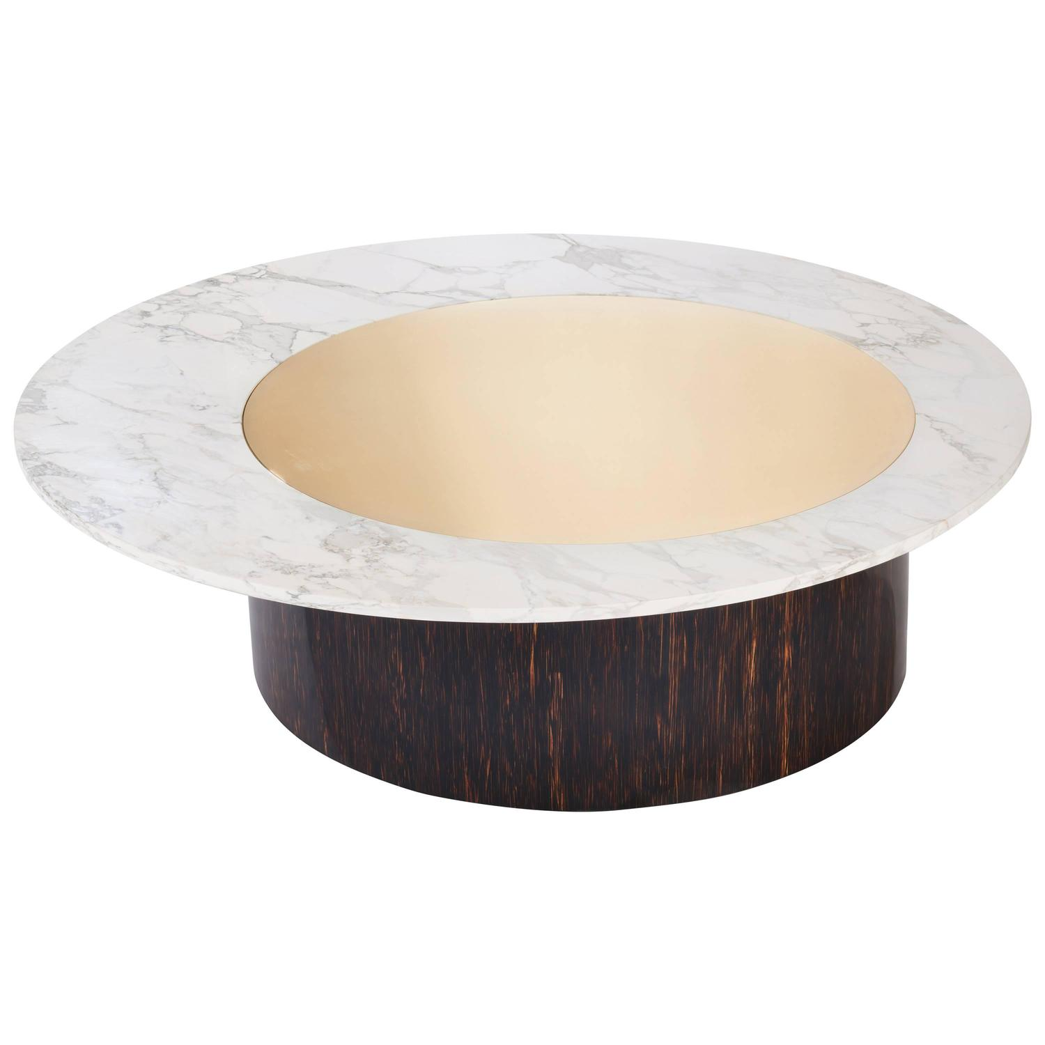 Janette Laverriere Nenuphar Contemporary Red Coffee Table For