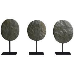 Three Neolithic Green Jasper Discs, 7,000 Years BP