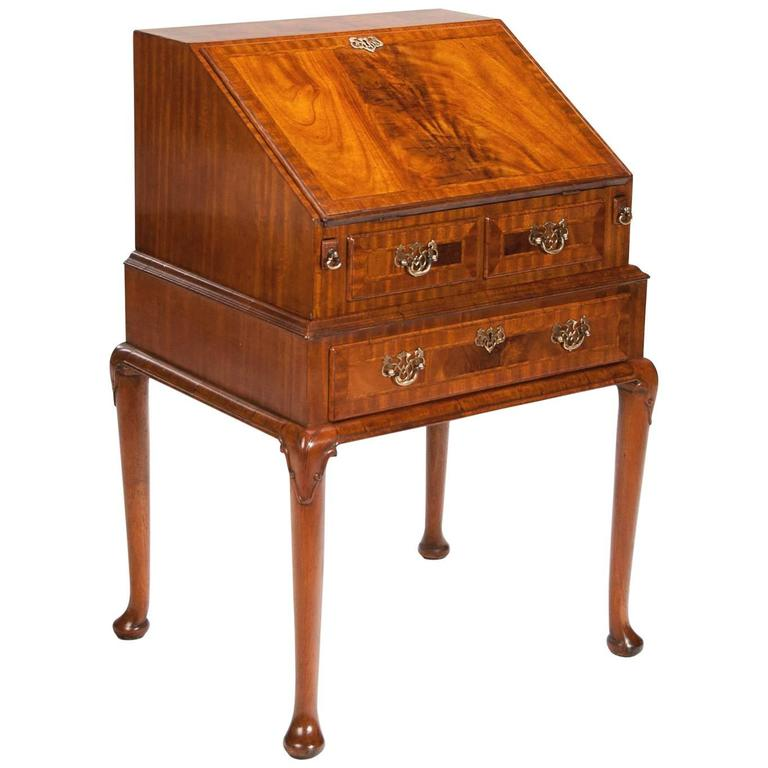 Antique Faded Mahogany Bureau On Stand At 1stdibs