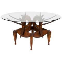 A Most Beautiful Carved Table by Judy McKie with Drawing
