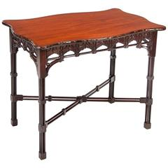 Quality Antique Mahogany Silver Table