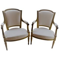 Pair of French 19th Century Louis XVI Style Chairs