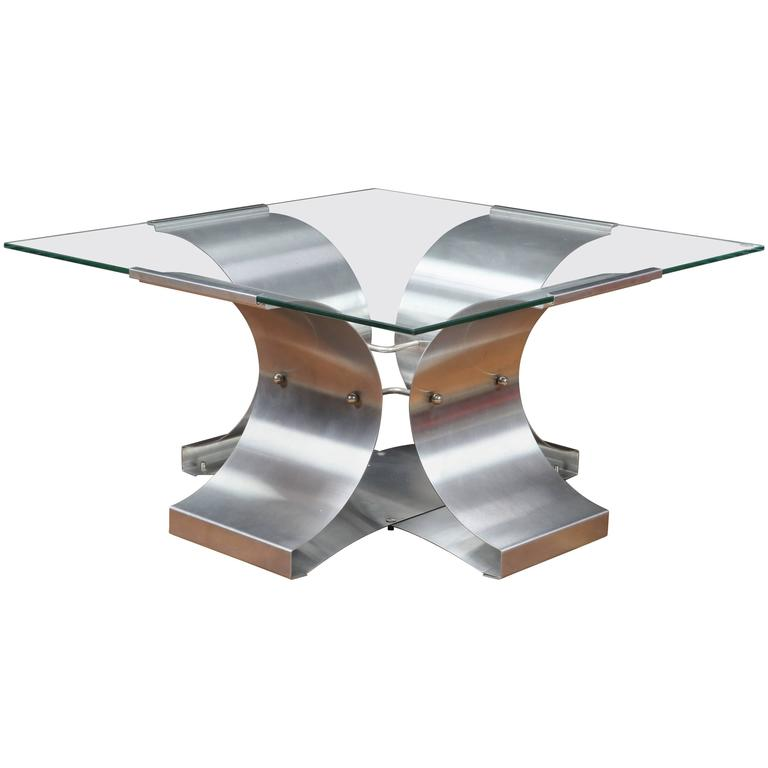 Mid-Century Coffee Table by Francois Monnet for Kappa, 1970s 1