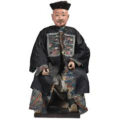 Very Rare Early 19th Century Chinese Hong Merchant Figure