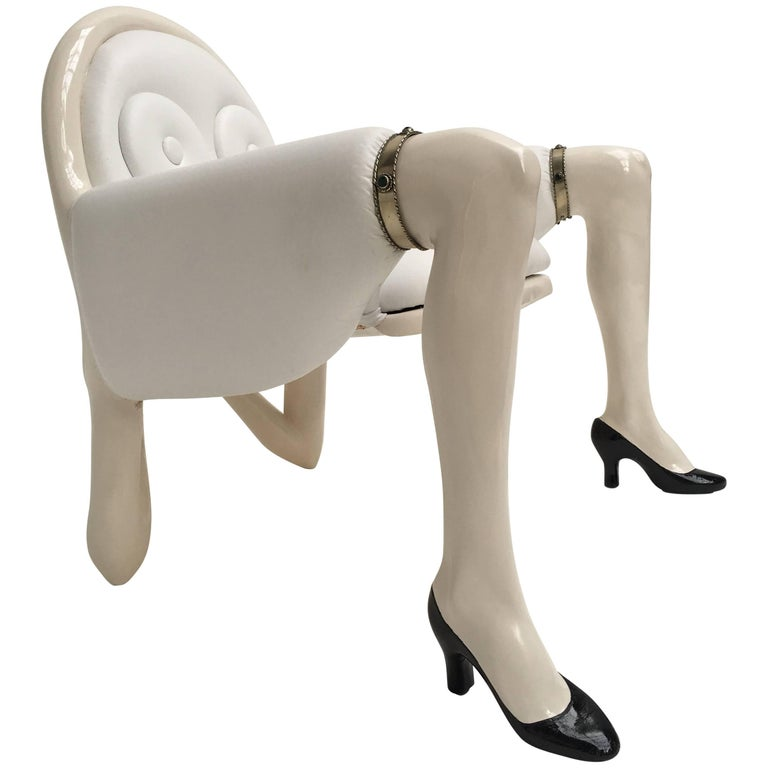 "Bespoke Anthony Redmile ""'Body Chair"" United Kingdom 1970s, Exhibited at Museum For Sale"