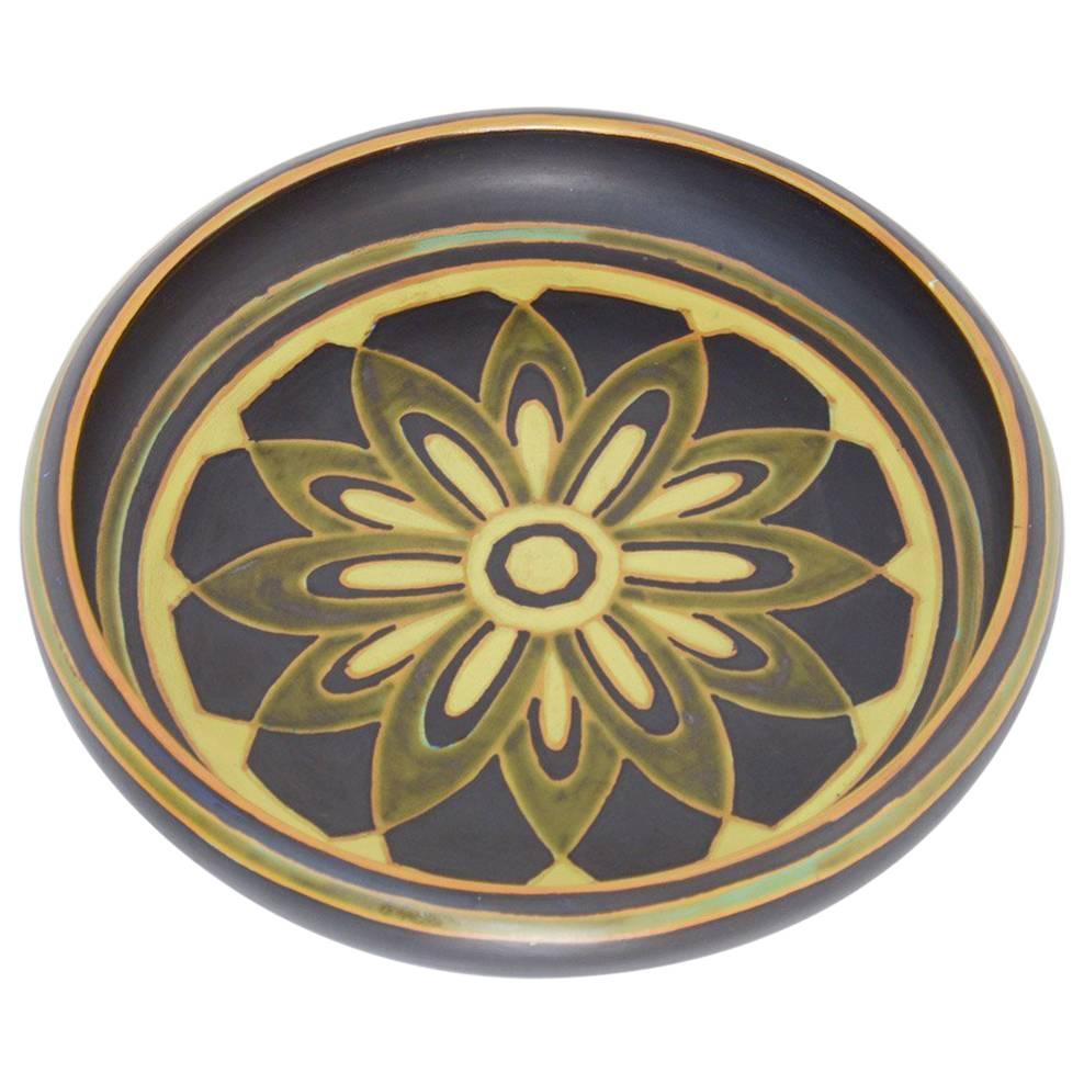 Art Deco Earthenware Vase by Charles Catteau for Boch Keramis