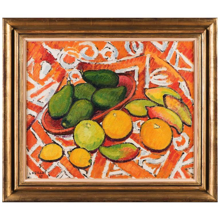 Tahitian Landscape, Mangoes, Oranges, Avocados, Lemons For Sale