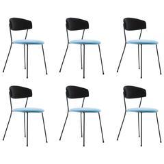 Italian Velvet CN1 Chairs by V.Chiaia and M. Napolitano for Arflex, 1950s