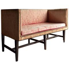 Antique Sofa Settee Windsor Box Victorian 19th Century for Reupholstery