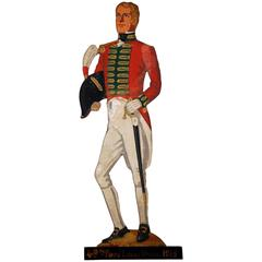 Early 20th Century Wooden Painted Soldier by Lt. E.V. Howell
