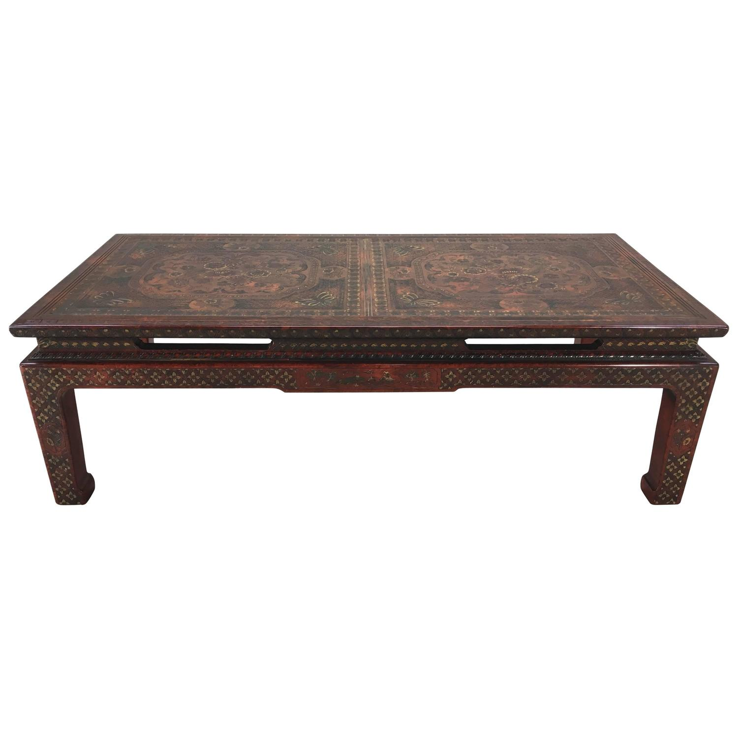 Stunning Mario Buatta for John Widdi b Chinoiserie Coffee Table