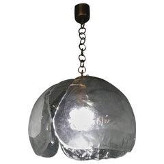 Mid-Century Modern Kaiser Leuchten Chandelier with Mazzega Glass