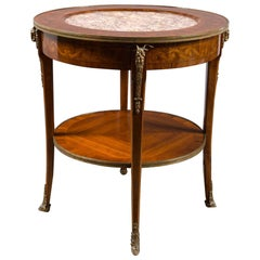 Inset Marble-Top Round Table