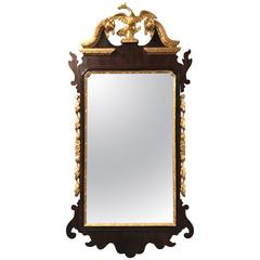 19th Century Gilt and Mahogany Wall Mirror