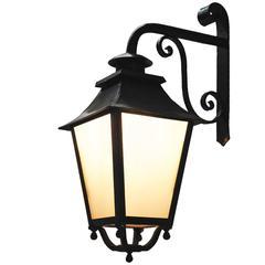Outdoor Lantern Exterior Porch Wall Light Wrought Iron Glass