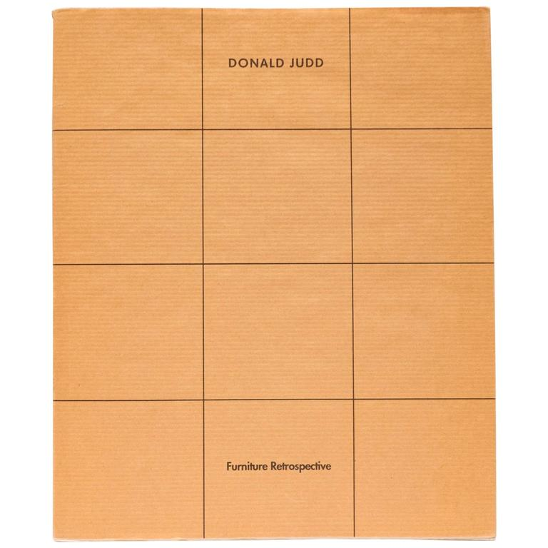 Donald Judd Furniture Retrospective Catalogue 1