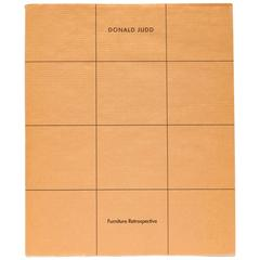 Donald Judd Furniture Retrospective Catalogue