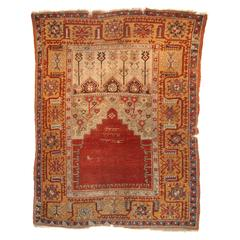 Antique Turkish Ladik Prayer Rug, a Superb Early Dated Example