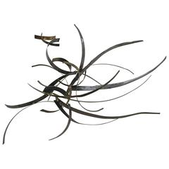 Silas Seandel Brass and Steel Wall Sculpture