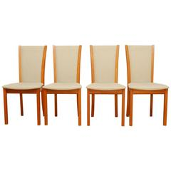 Set of Four Danish Teak Dining Chairs by Skovby