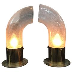 Set of Two Table Lamps by Aldo Nason for Mazzega