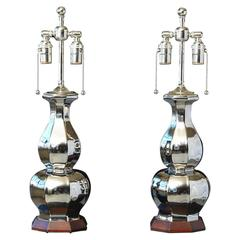 Pair of Table Lamps 'Small Alexander' in Luster by Christopher Spitzmiller