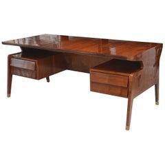 Fine Italian Modern Rosewood Desk, Guglielmo Ulrich
