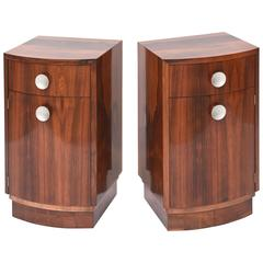 "Pair of American Late Art Deco ""Paldao"" Bedside Cabinets, Gilbert Rohde"