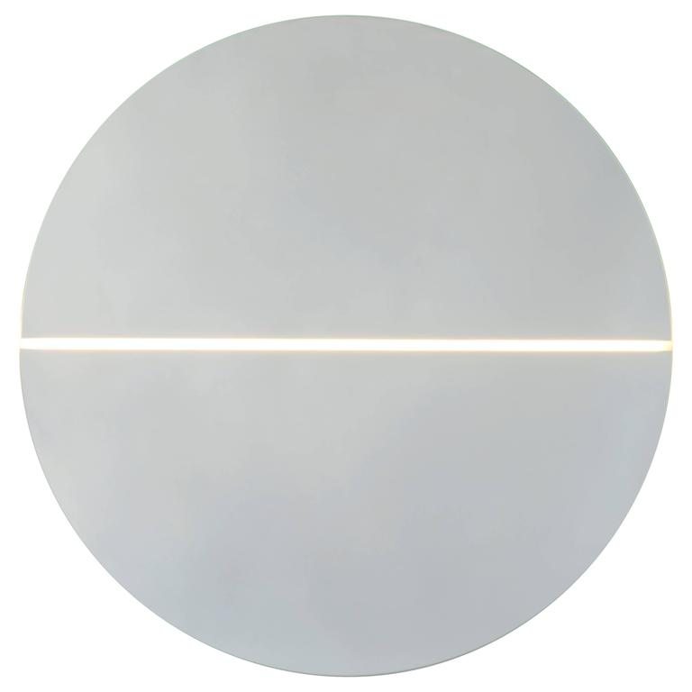 Contemporary Gemini Mirror and Light For Sale