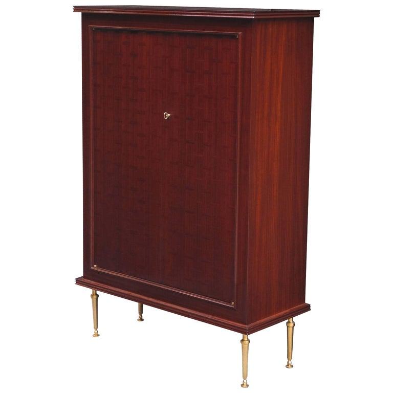 Fine Jules Leleu Designed Bar Cabinet
