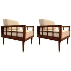 Pair of Frank Lloyd Wright Inspired Chairs