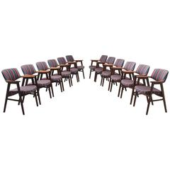 Set of 12 Dining Chairs in Rosewood