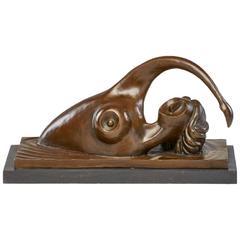 Bronze Swimmer Sculpture