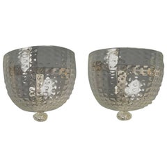 Matched Pair of Handblown Glass Sconces by Venini, Italy, 1930s