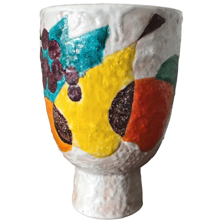 Unusual Italian Ceramic Vase for Raymor