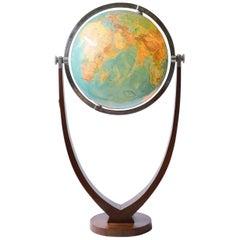 """Columbus-Duo Standing Globe, So Called """"Adenauer Globe"""", Berlin-Stuttgart, 1954"""