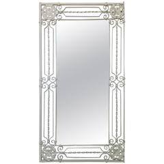 Elegant Hand Twisted Wrought Iron Mirror