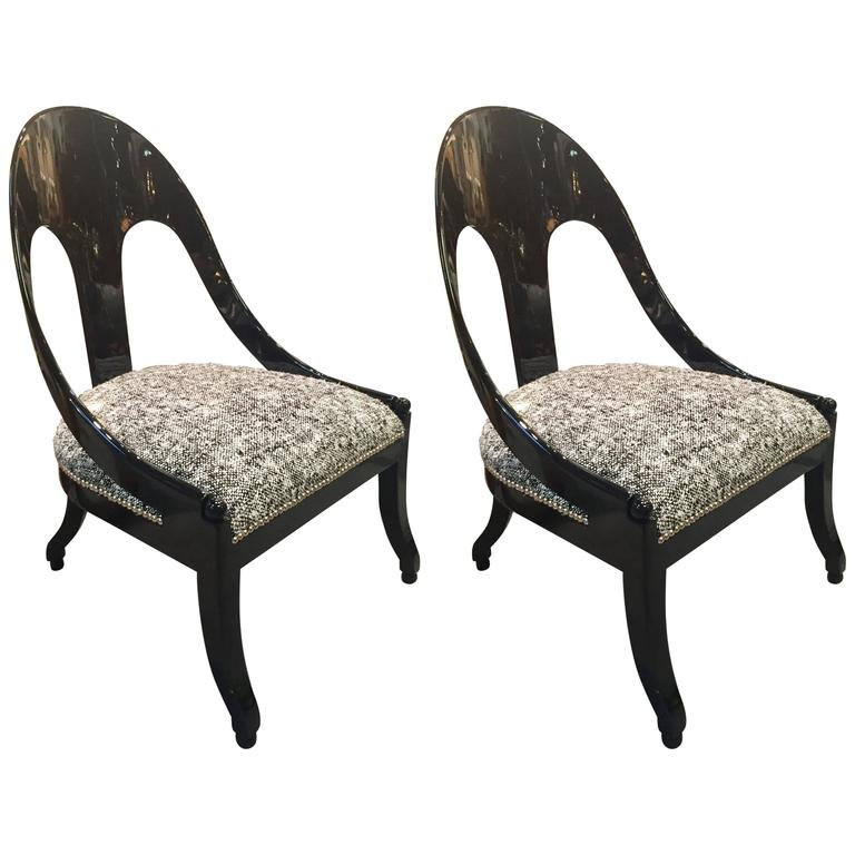 Pair of Spoon Back Chairs 1