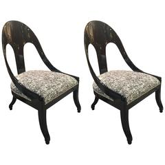 Pair of Spoon Back Chairs