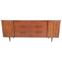 Mid-Century Modern Burl Walnut Dresser