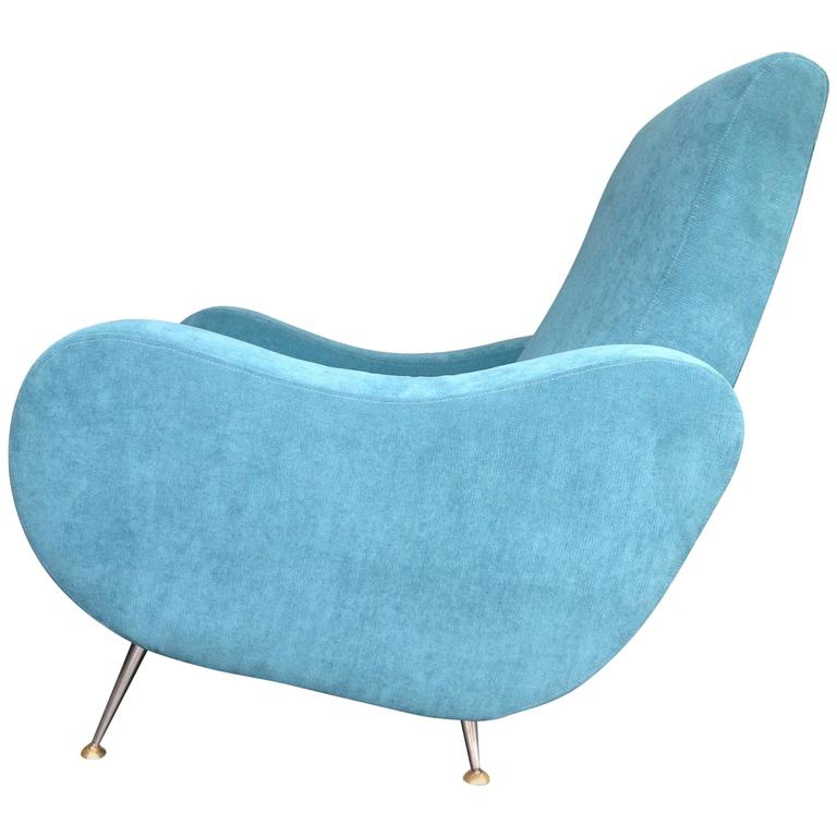 Gio Ponti Style Italian Armchair For Sale