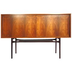 Mid-20th Century Rosewood Sideboard with Sliding Doors