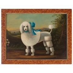 Vintage Folky Poodle Painting by Ron Lee Van Sweringen