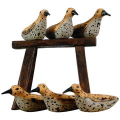 20th Century Team of French Wood Working Decoys