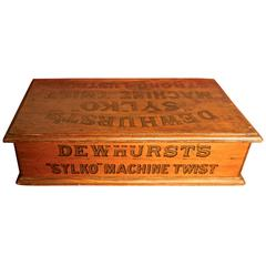 Dewhurst's Sylko Machine Cotton Reel Box Haberdashery Shop Display