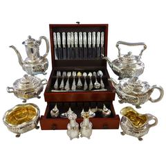 Chrysanthemum by Tiffany and Co Sterling Silver Flatware Set for 12 and Tea Set