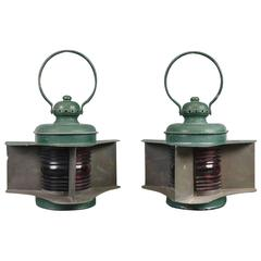 Matched Pair of Bow Lanterns by Perkins Marine