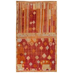 Beautifuly Contrasted Antique Moroccan Rug