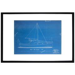 Vintage Nautical Cyanotype
