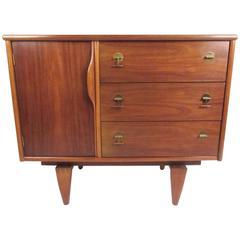 Mid-Century Modern Walnut Cabinet by Stanley Furniture